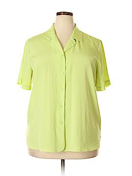 Liz Baker Short Sleeve Blouse Size 18 (Plus)