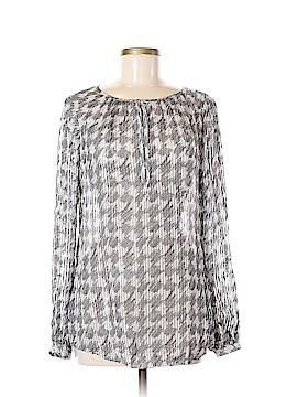 White House Black Market Long Sleeve Silk Top Size 6