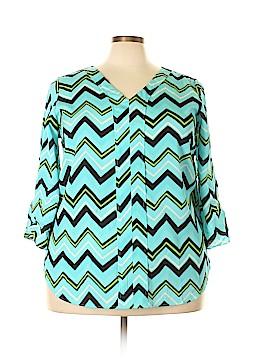 Millenium 3/4 Sleeve Blouse Size 2X (Plus)