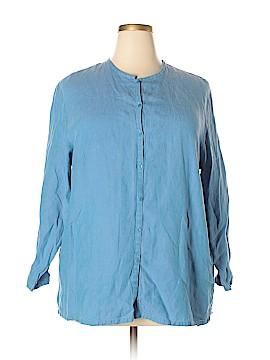 Eileen Fisher Long Sleeve Button-Down Shirt Size 2X (Plus)