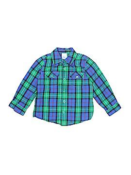 Okie Dokie Long Sleeve Button-Down Shirt Size 18-24 mo