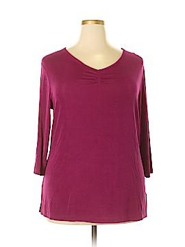 Jaclyn Smith 3/4 Sleeve Top Size 2X (Plus)