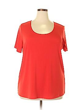 Slinky Brand Short Sleeve Blouse Size 1X (Plus)