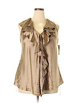 Ralph Lauren Sleeveless Silk Top Size 16
