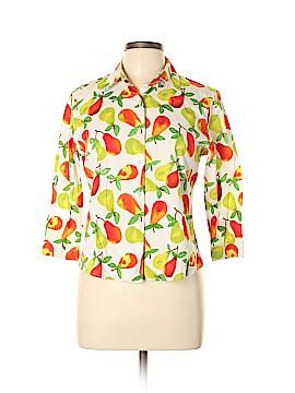 Harve Benard by Benard Holtzman 3/4 Sleeve Button-Down Shirt Size 12
