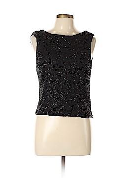 Scala Sleeveless Silk Top Size L