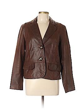 Nine West Leather Jacket Size L
