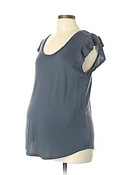 Ann Taylor LOFT Maternity Short Sleeve Top Size L (Maternity)