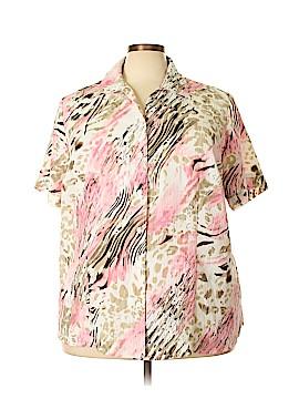 Kim Rogers Short Sleeve Blouse Size 24 (Plus)