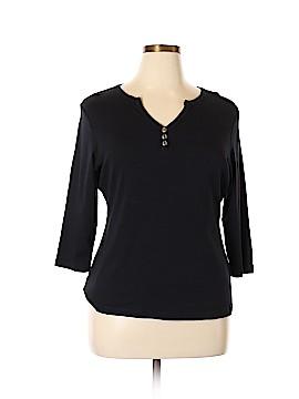 DressBarn 3/4 Sleeve Henley Size 1X (Plus)