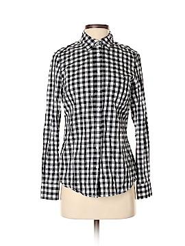 Fleur bleue Long Sleeve Button-Down Shirt Size S
