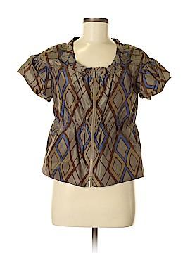 Bottega Veneta Short Sleeve Silk Top Size 42 (IT)