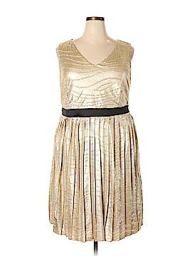 Yellow Star Cocktail Dress Size 2X (Plus)
