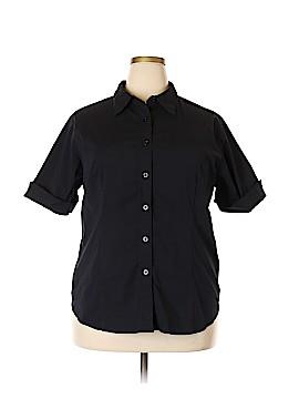 Venezia Short Sleeve Button-Down Shirt Size 20 (Plus)