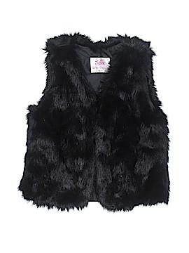 Justice Faux Fur Vest Size 14