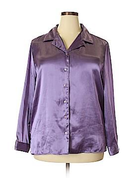 Kathie Lee Long Sleeve Button-Down Shirt Size XL