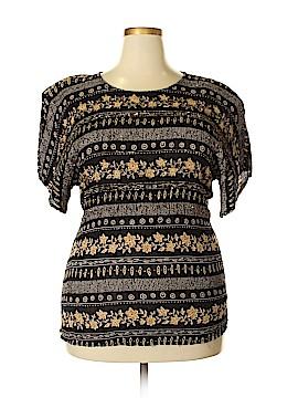 Jane Ashley Short Sleeve Top Size 2X (Plus)