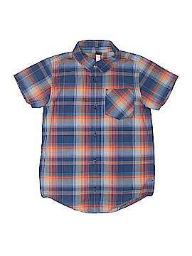 Tea Short Sleeve Button-Down Shirt Size 10