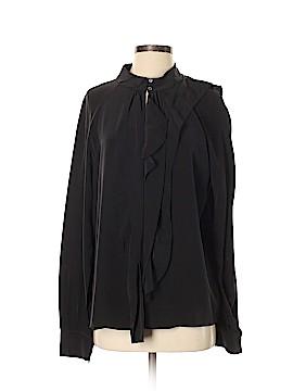 Rachel Roy Long Sleeve Silk Top Size M