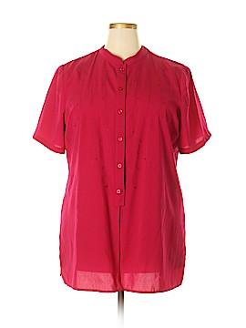 Liz Baker Short Sleeve Blouse Size 1X (Plus)