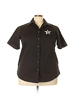 Harriton Short Sleeve Button-Down Shirt Size 2X (Plus)