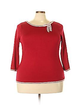 INC International Concepts 3/4 Sleeve Silk Top Size 1X (Plus)