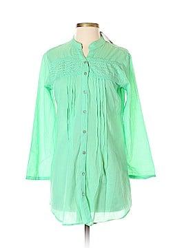 S.R. Fashion Long Sleeve Button-Down Shirt Size S