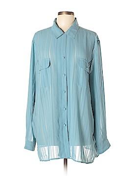 Liz Baker Long Sleeve Blouse Size 24 (Plus)