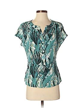 Amour Vert Short Sleeve Silk Top Size XS