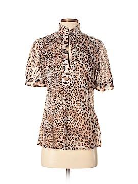 Class Roberto Cavalli Short Sleeve Blouse Size 8