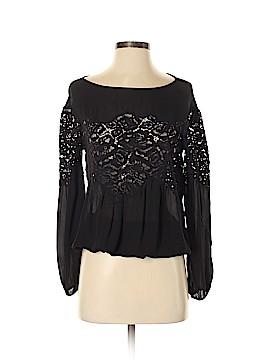 Ramy Brook Long Sleeve Silk Top Size XS