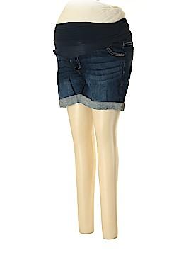 Indigo Blue Denim Shorts Size L (Maternity)