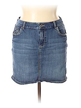 White House Black Market Denim Skirt Size 14