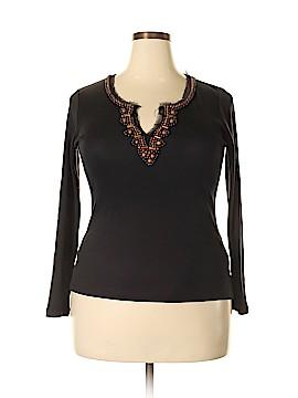 Lynn Ritchie Long Sleeve Silk Top Size XL