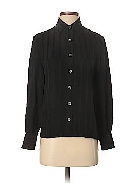 Céline Long Sleeve Silk Top Size 40 (IT)