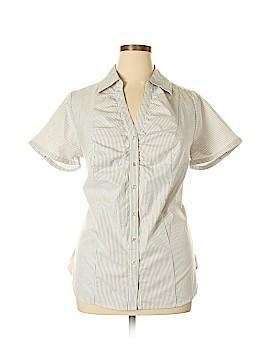 Lane Bryant Short Sleeve Button-Down Shirt Size 16 (Plus)