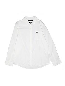 RVCA Long Sleeve Button-Down Shirt Size L (Kids)