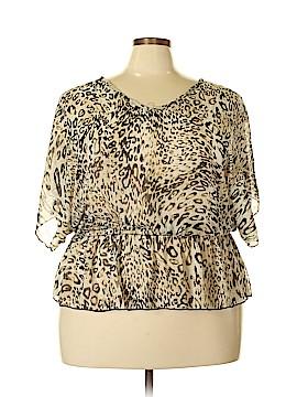 Dots 3/4 Sleeve Blouse Size 2X (Plus)