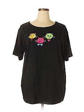 Bob Mackie Short Sleeve T-Shirt Size 1X (Plus)