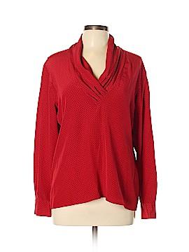 Tahari Long Sleeve Silk Top Size 12