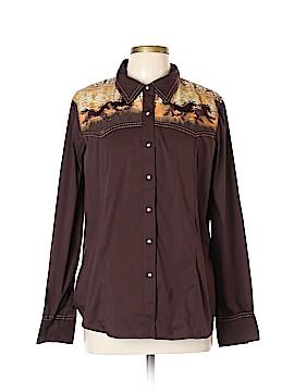 Reba Long Sleeve Button-Down Shirt Size XL