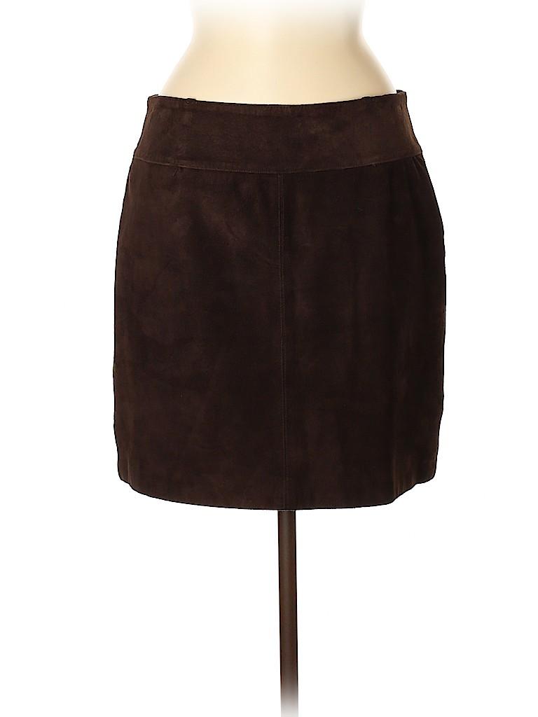 INC International Concepts Women Leather Skirt Size 8