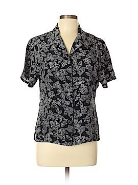 Halston Short Sleeve Button-Down Shirt Size 6