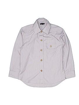 Little Traveler Long Sleeve Button-Down Shirt Size 4