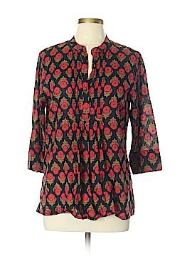 Roberta Roller Rabbit 3/4 Sleeve Button-Down Shirt Size L