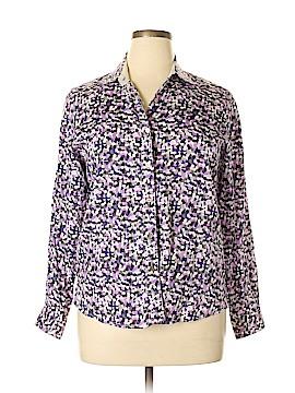 Foxcroft Long Sleeve Button-Down Shirt Size 12