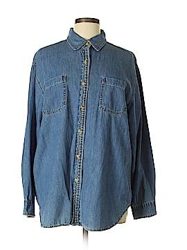 Bill Blass Jeans Long Sleeve Button-Down Shirt Size XL