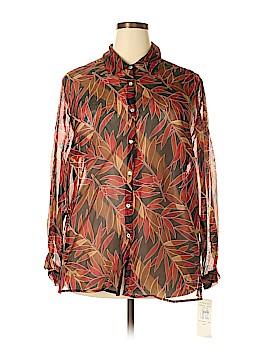 Robbie Bee Long Sleeve Silk Top Size 20 (Plus)