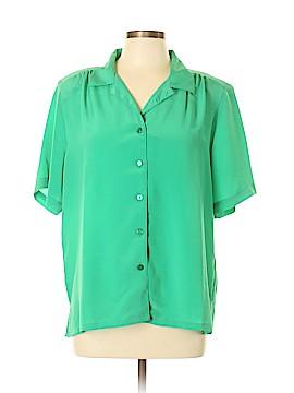 DonnKenny Classics Short Sleeve Blouse Size L