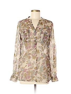 Eddie Bauer Long Sleeve Silk Top Size M